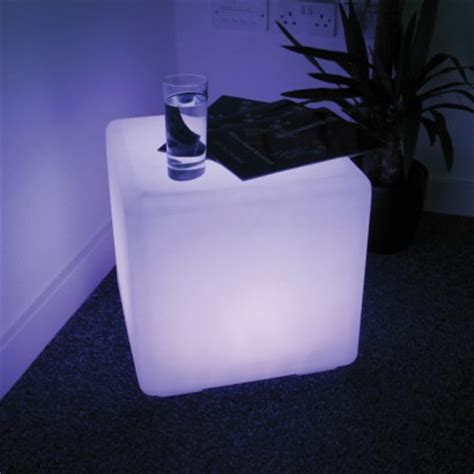 light up cube seat