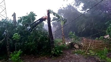 hujan angin kencang  gunung putri bogor youtube