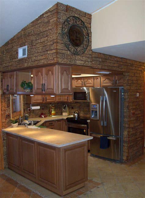unique kitchen design for small spaces with brown interior