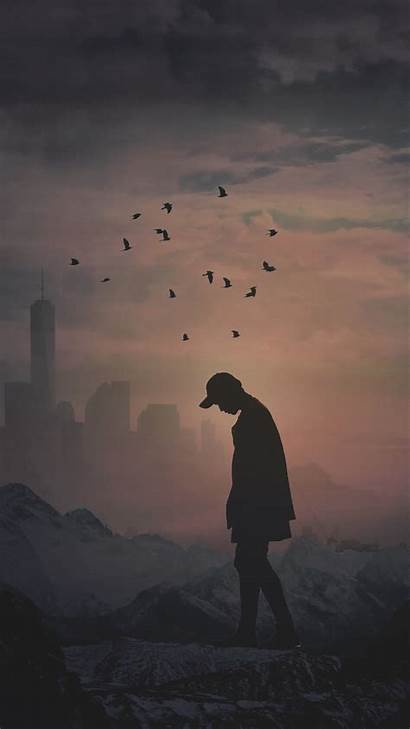 Alone 4k Silhouette Wallpapers Background 1080p Android
