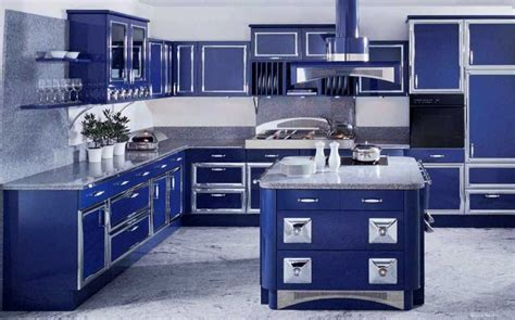 gorgeous blue themed kitchen design ideas