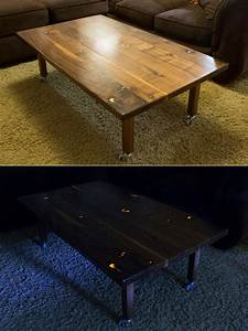 Make your living room glow with this diy coffee table for Glowing coffee table