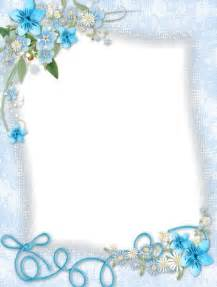 Transparent Flower Borders and Frames