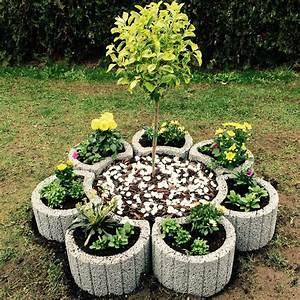 Kräutergarten Terrasse Ideen : diy mit pflanzsteinen garten pflanzen garten und pflanzen ~ A.2002-acura-tl-radio.info Haus und Dekorationen