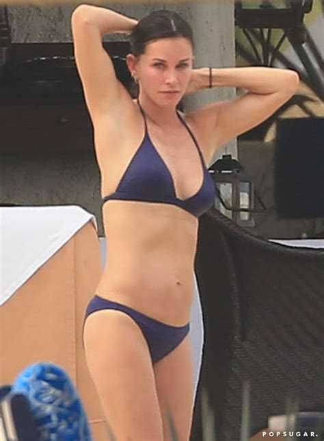 Courteney Cox in a Bikini With Johnny McDaid in Cabo ...
