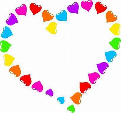 Clip Heart Rainbow Clipart Domain Magic Publicdomainpictures
