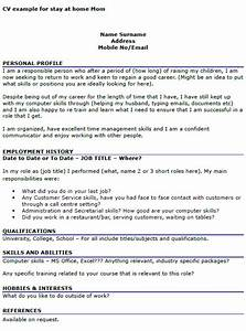 cv example for stay at home mom icoverorguk With cover letter examples for stay at home moms