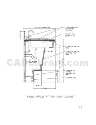 ada sink base requirements cutaway ada stuff pinterest