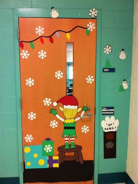 heaps of different christmas door decorations classroom