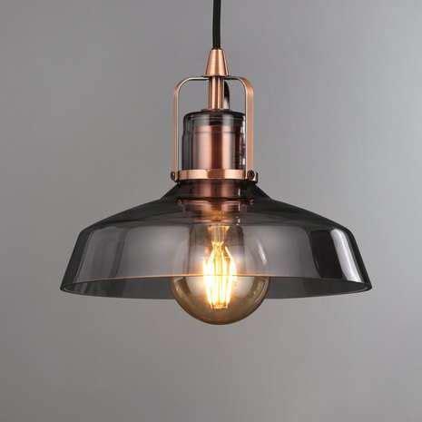 suva smoke glass pendant fitting   lights