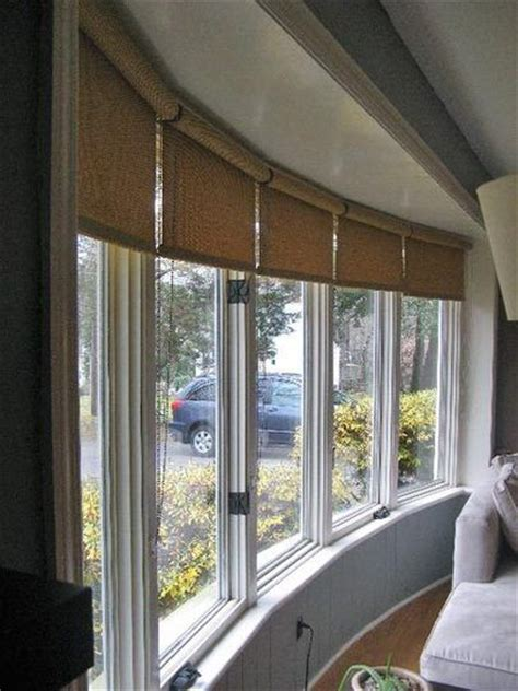 pinterest  house bay window treatments