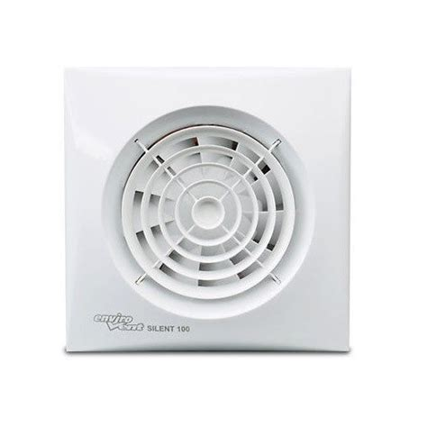 Envirovent Sil100t Silent 100mm White Extractor Fan For