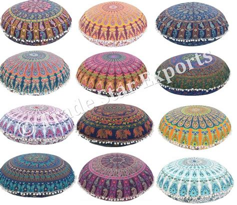 Pouf Ottoman Insert by Large Floor Pillows With Insert Indian Mandala