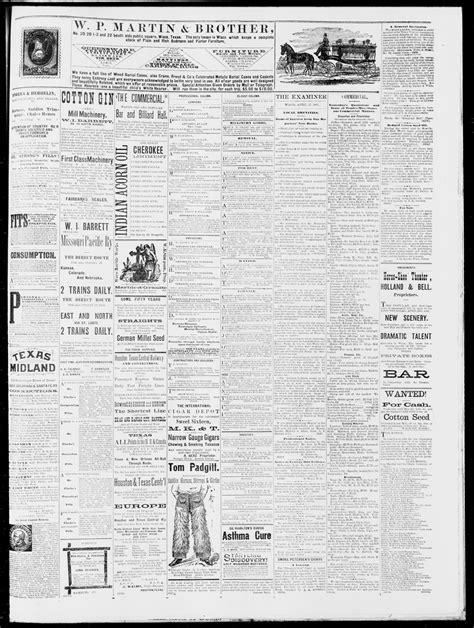 waco 1882 examiner tex vol thursday ed april daily previous