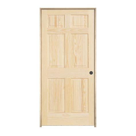 6 Panel Wood Interior Doors by Jeld Wen 28 In X 80 In Pine Unfinished Left 6 Panel