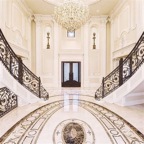 Grand Foyer by Luxury Grand Foyer Interior Design Doublestaircase