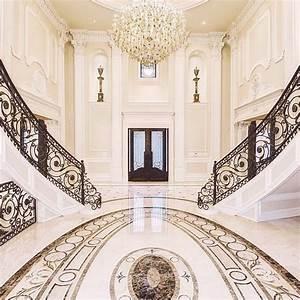 Luxury Grand Foyer Interior Design #DoubleStaircase ...