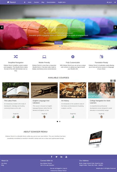 Best Moodle Themes 15 Best Moodle Themes Of 2017 Design Shack