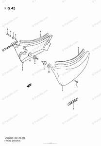 Suzuki Motorcycle 2008 Oem Parts Diagram For Frame Cover