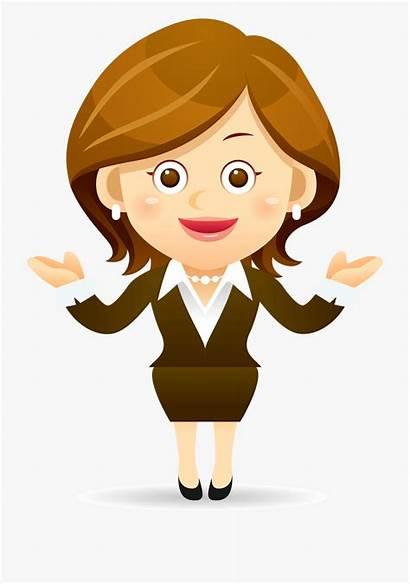 Teacher Cartoon Clipart Lady Clip Female Cliparts