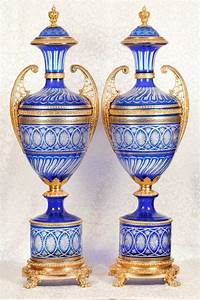 Xl, Architectural, Amphora, Cut, Glass, Vases, Urns, French, Empire, 4, 5, Feet