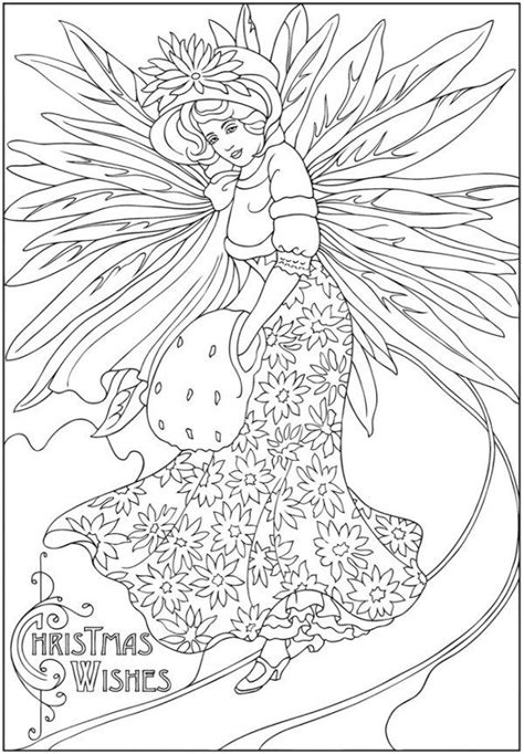 freebie winter fairy image christmas coloring books
