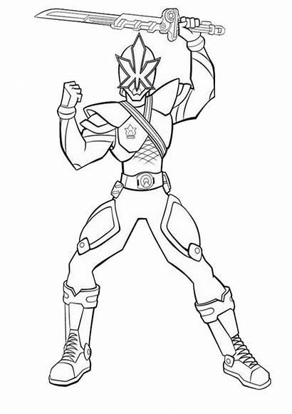 Coloring Power Rangers Ranger Space Dino Fury