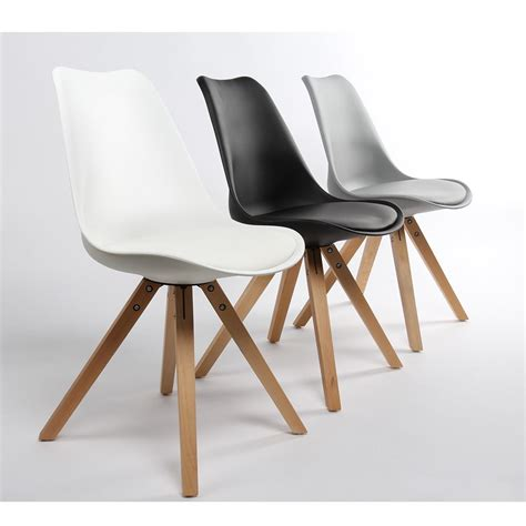 lot chaises lot de 2 chaises design ormond wood par drawer fr