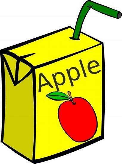 Juice Box Apple Clker Clip Clipart Vector