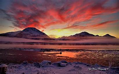 Alaska Wallpapers Twilight Inlet Cook Wallpapersafari