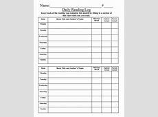 47 Printable Reading Log Templates for Kids, Middle School
