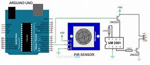 Pir Sensor Based Security Alarm System Using Um3561 Ic