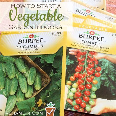 how to start a vegetable garden indoors food design