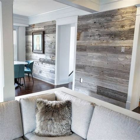 reclaimed grey barn board feature walls