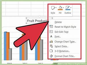 How To Add Titles To Graphs In Excel  8 Steps  With Pictures