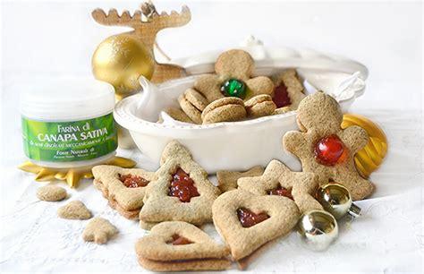 canapé promotion biscotti occhi di bue natalizi alla canapa