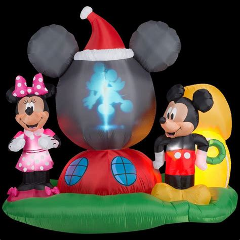 gemmy  ft  panoramic projection inflatable mickey