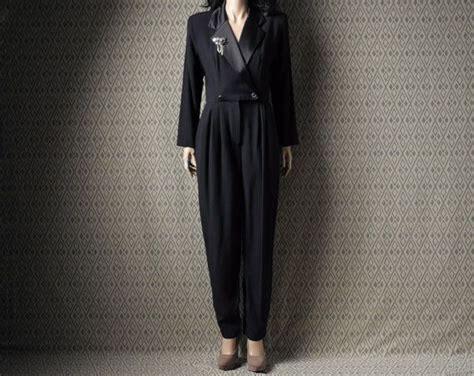 1980s Tuxedo Jumpsuit By Persephone Vintage