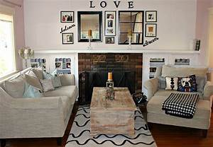 Diy room decor ideas for new happy family for Decoration site for living room