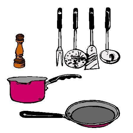 dessin de cuisine à imprimer coloriage ustensiles cuisine