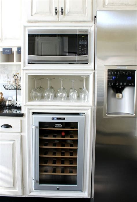 kitchen wine coolers cabinets 1000 images about microwave cabinet ideas on 6484