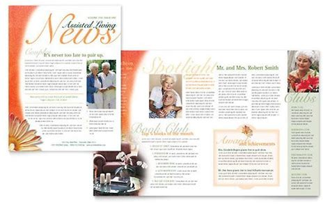 assisted living facility newsletter template template