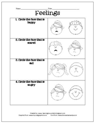 Free Feeling And Emotion Printables