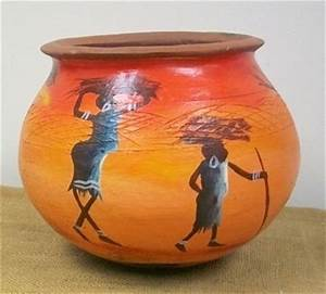 Pics For > African Pots Paintings