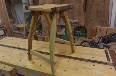 woodworking shop stool   school joinery
