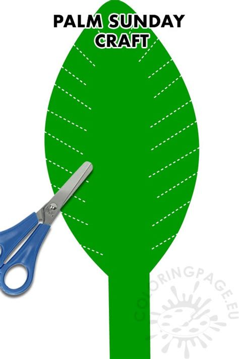 palm sunday leaf craft ideas coloring page
