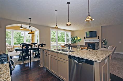 open floor plan kitchens traditional kitchen grand rapids  eastbrook homes