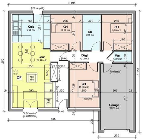plan maison plain pied 85m2 constructeur 21 messages