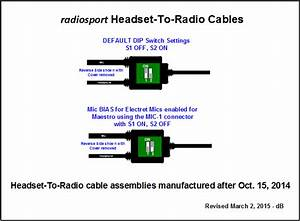 Using A Radiosport Headset With Maestro  U2013 Flexradio Systems