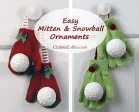 easy gift idea mitten snowball ornaments crafts 39 n coffee